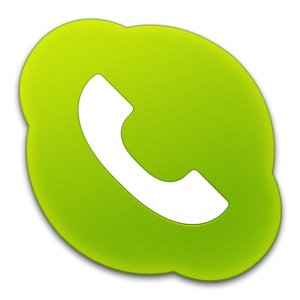 Skype Phone Green